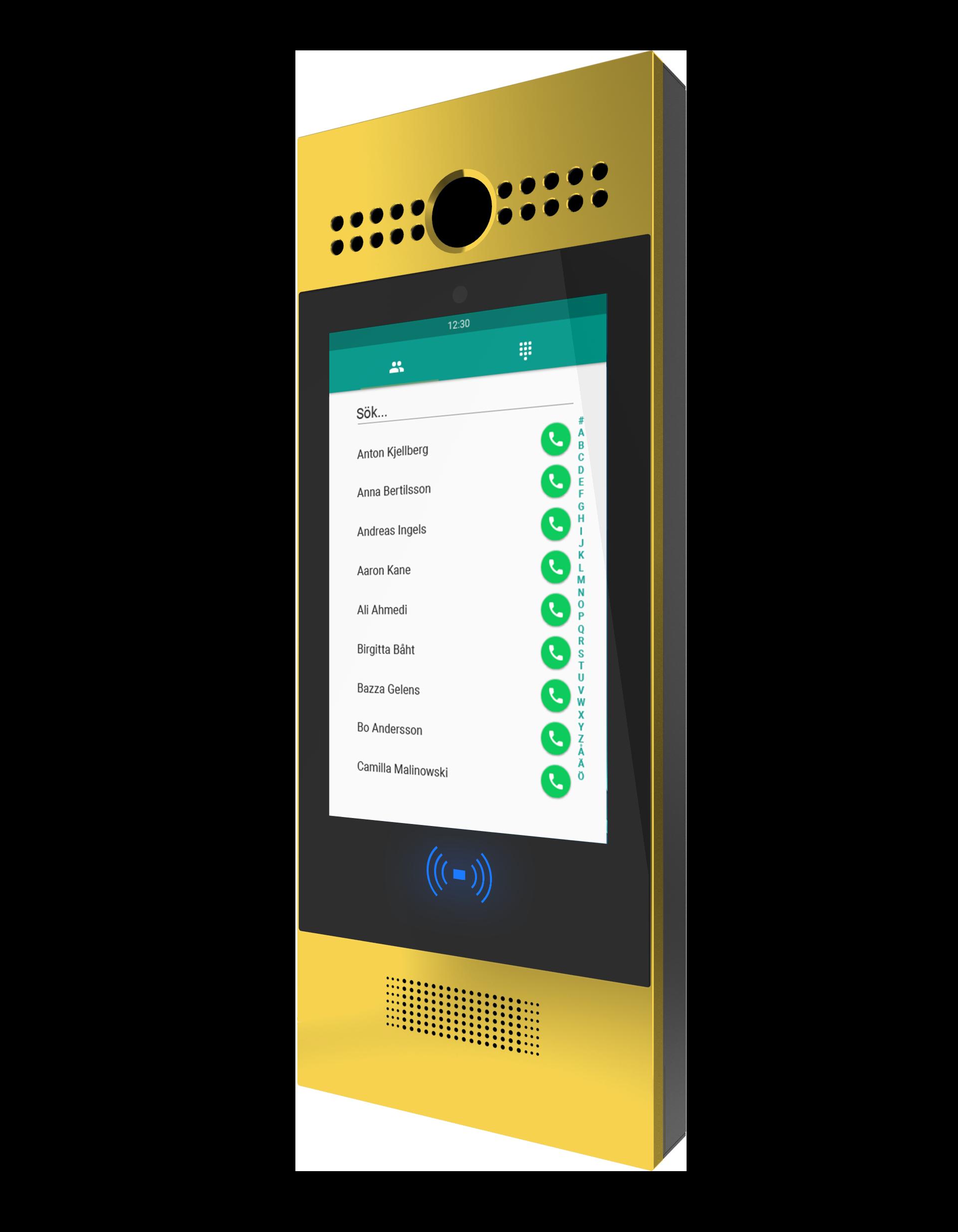 Axessa porttelefon 29s Mässing med kamera och kombiläsare, wiegand interface