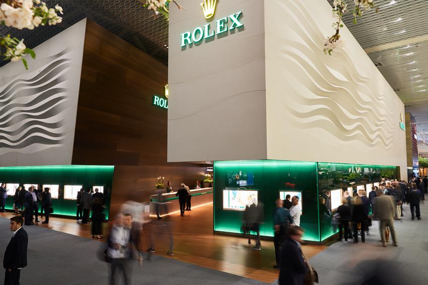 Ausstellungsstand Rolex
