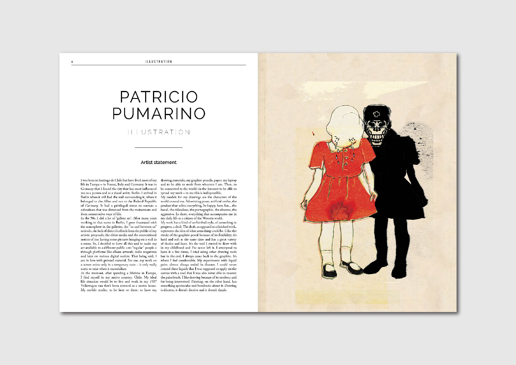 Patricio Pumarino: artist statement and works by the Chilean artist