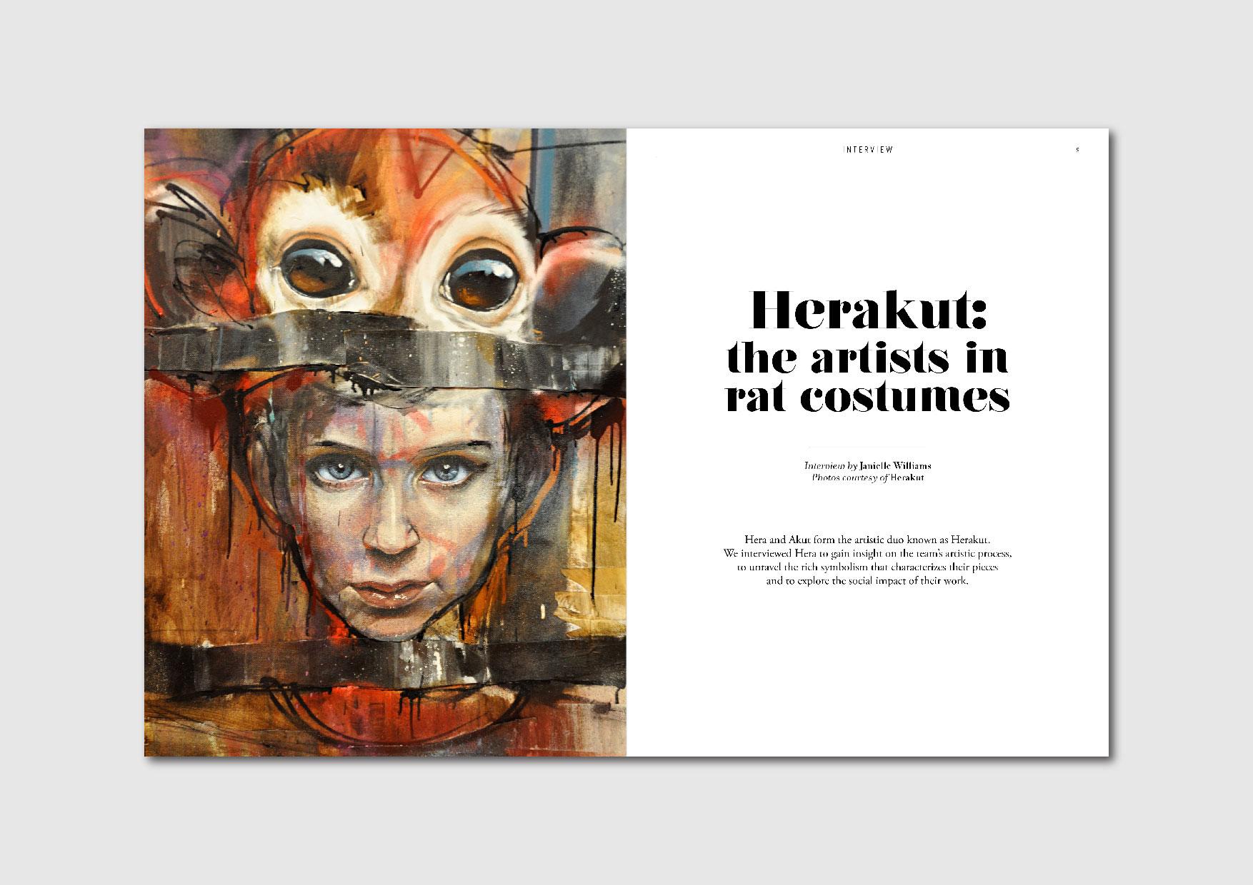 Herakut: interview with  the German storytelling street artists Hera and Akut
