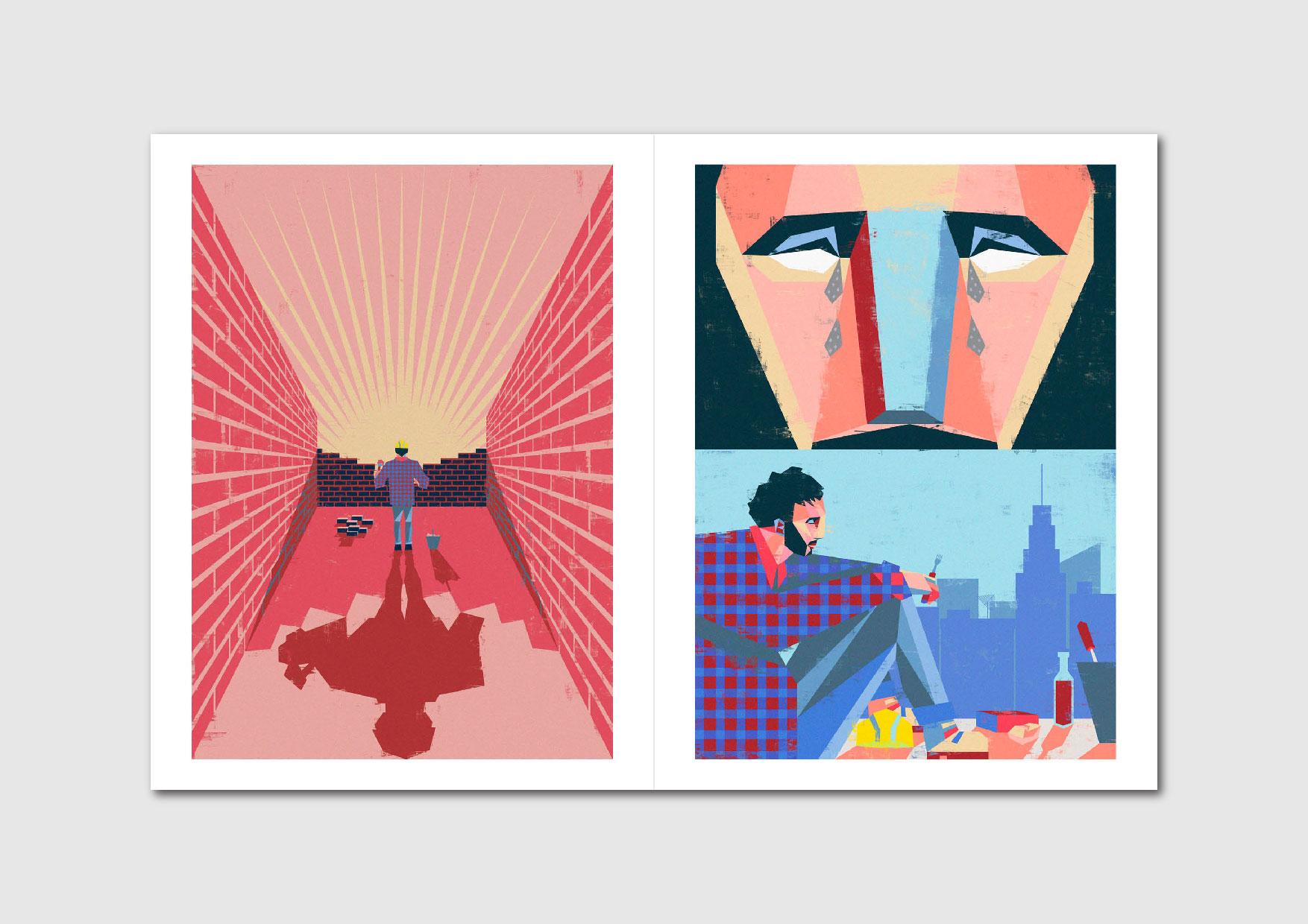 La Modernidad: illustration series by Uruguayan artist Leandro Bustamante