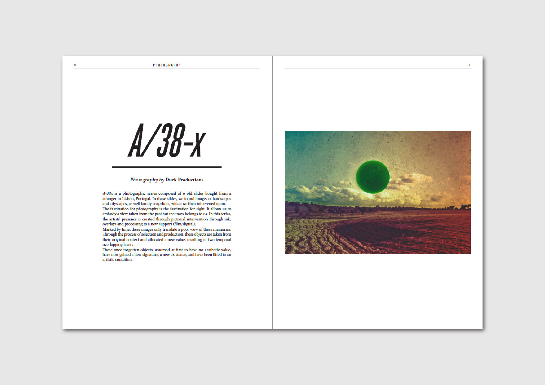 A/38-x: photo series by Duck Productions