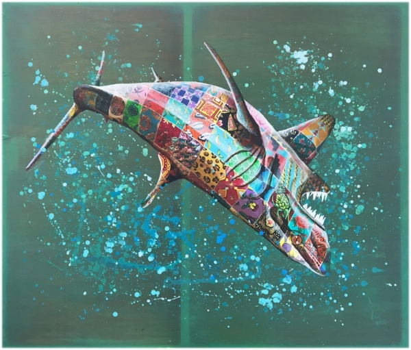 We're Stuffed - Great White by Louis Masai, 2016