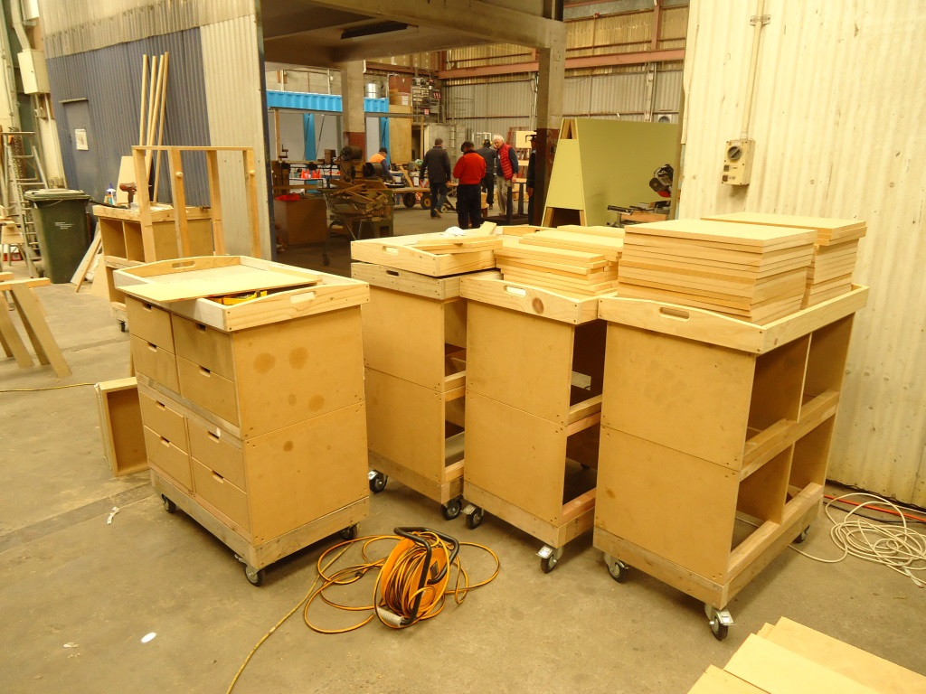 Cabinets nearing completion