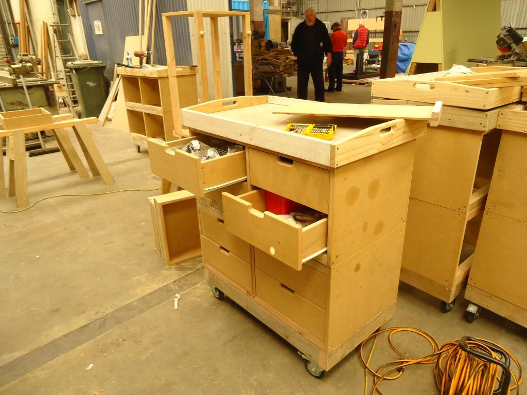 Smooth sliding drawers