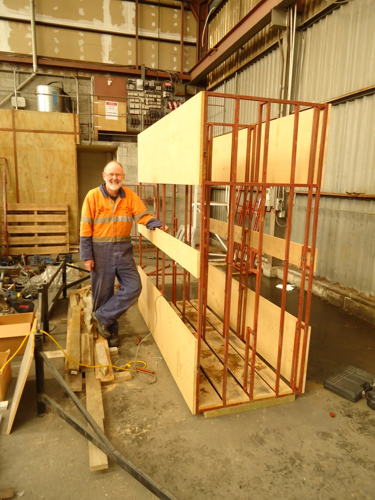 MDF and timber rack