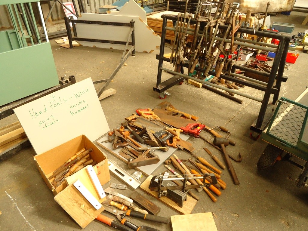 Initial sort-out of donated tools
