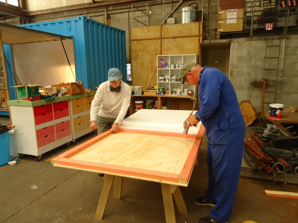 John and Denis lining the WorkBox