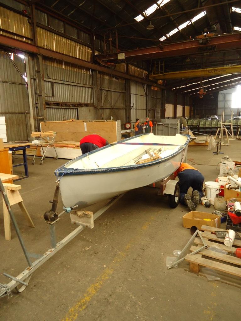 Enter one boat for refurbishment