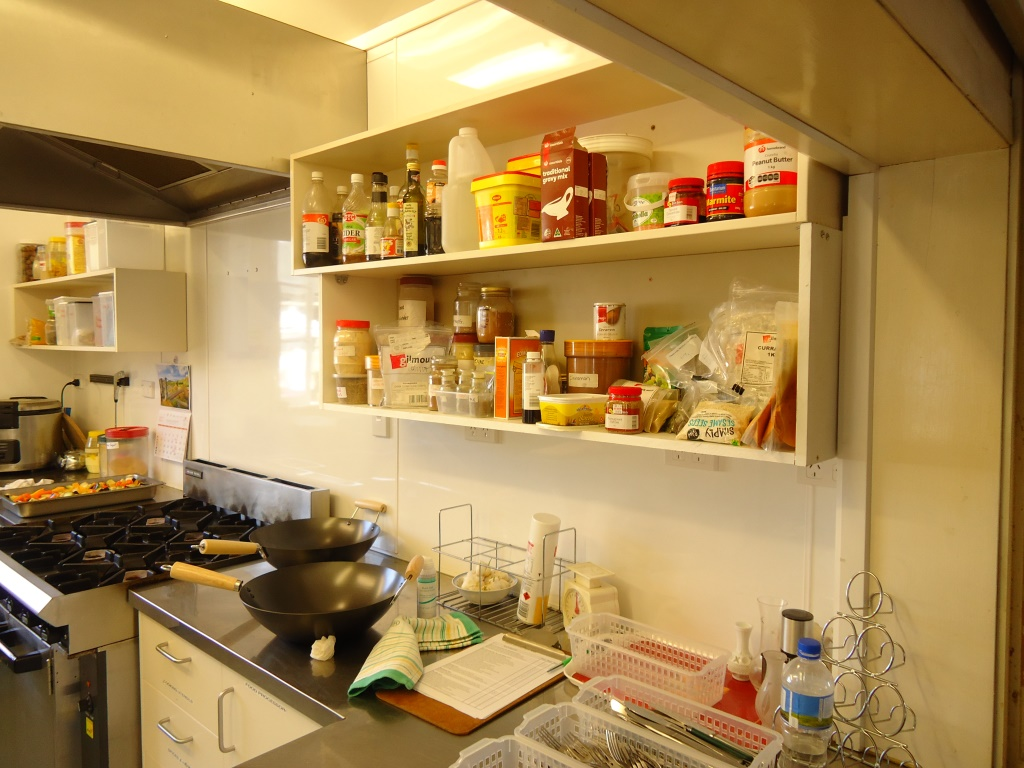Lower shelf installed