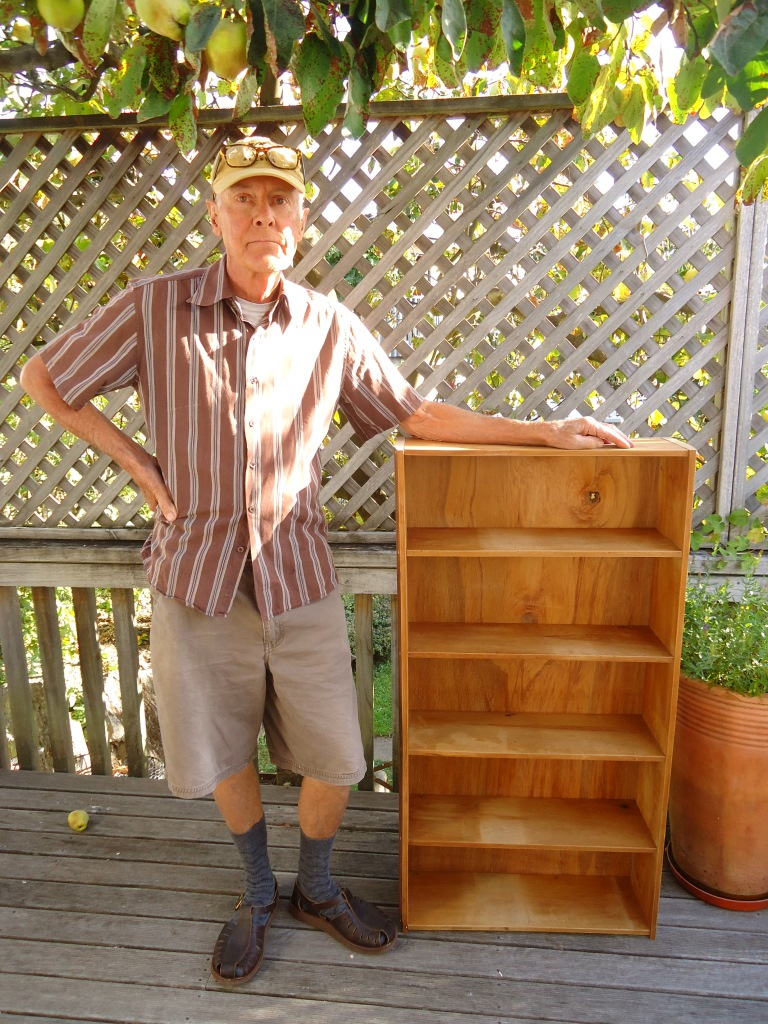 Recycled Matai weatherboard shelves