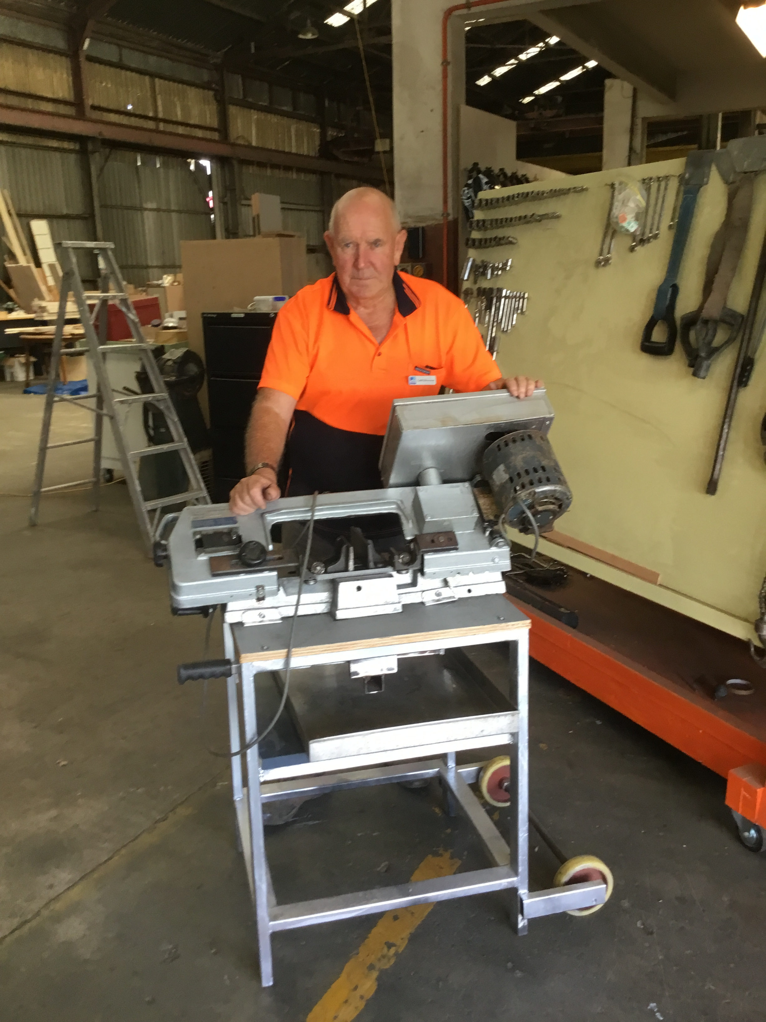 Metal bandsaw with a difference.