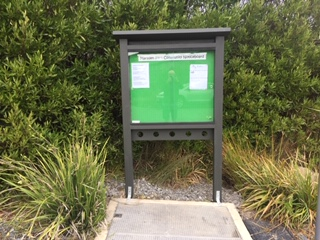 NCC notice board at Marsden Valley