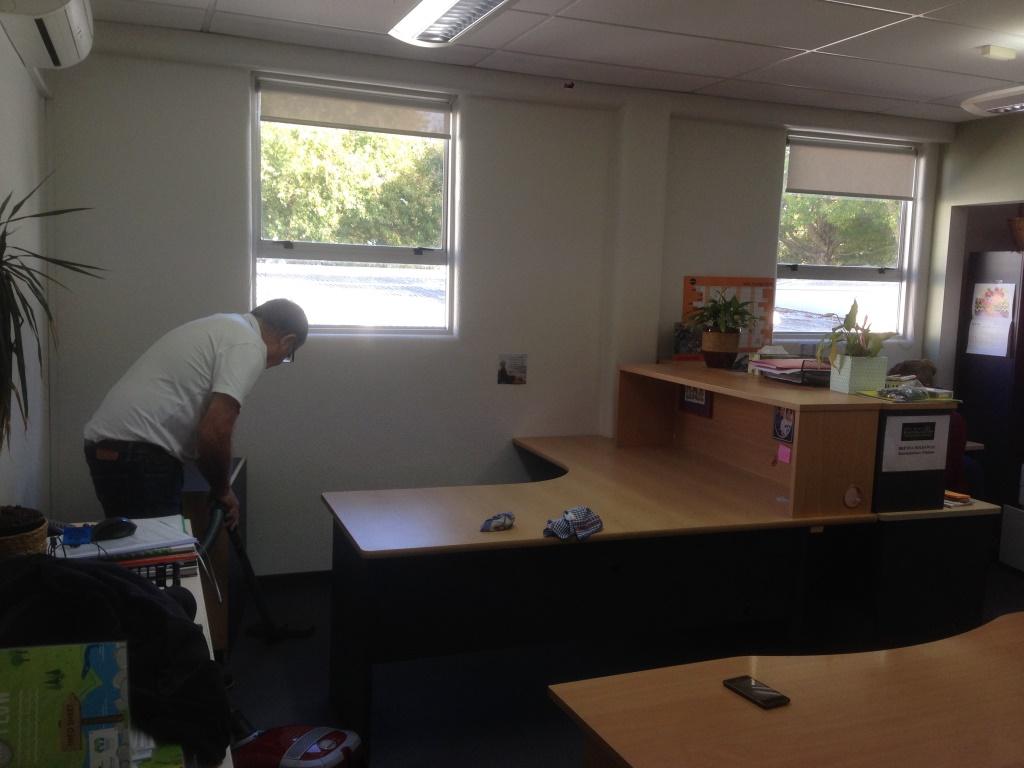Grant installs customised desk.