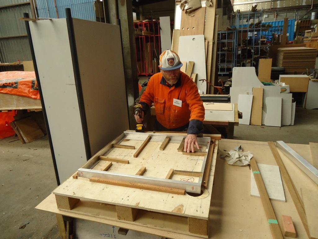 Peter creates a boat hatch jig.