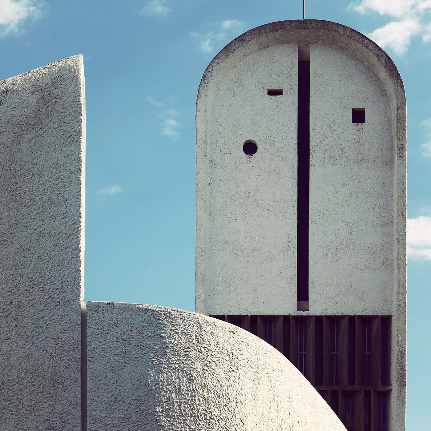 Chapelle Notre-Dame-du-Haut de Ronchamp <br />Location: Ronchamp, France <br />Architect: Le Corbusier