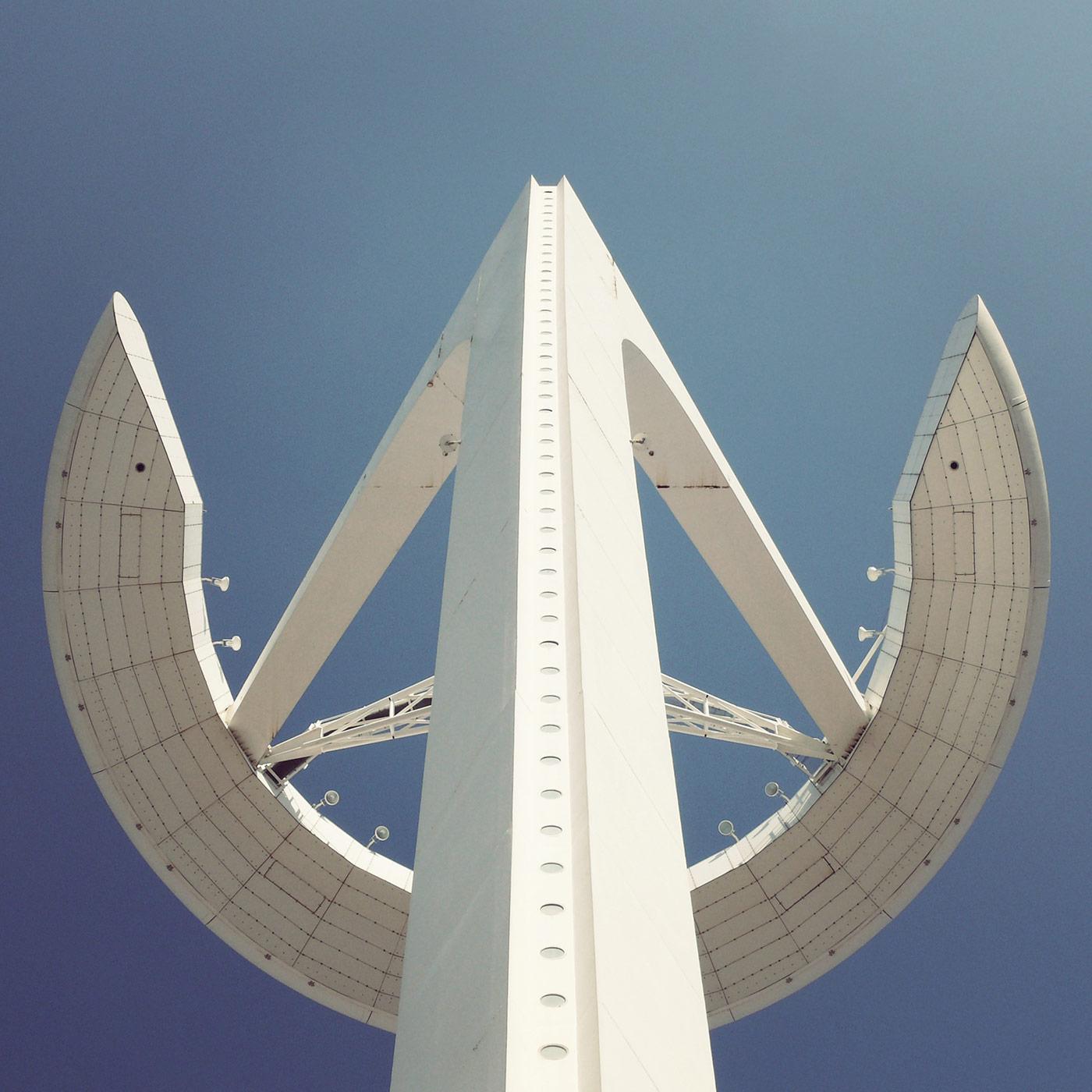 Torre de comunicacions de Montjuïc <br />Location: Barcelona, Spain <br />Architect: Santiago Calatrava