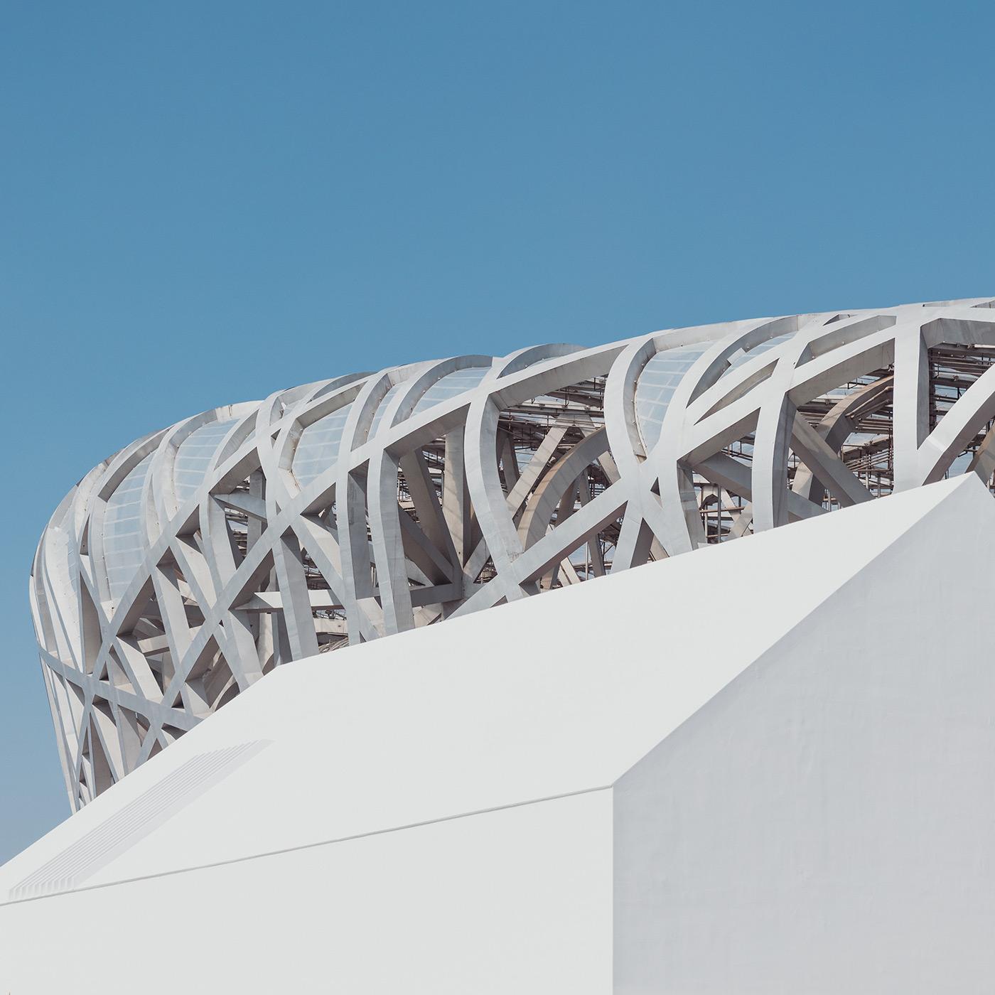 Beijing National Stadium aka Bird's Nest . Beijing, China . Herzog & de Meuron