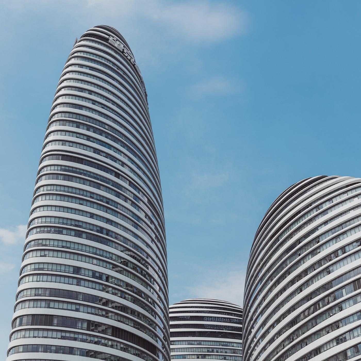 Wangjing SOHO . Location: Beijing, China . Architect: Zaha Hadid Architects