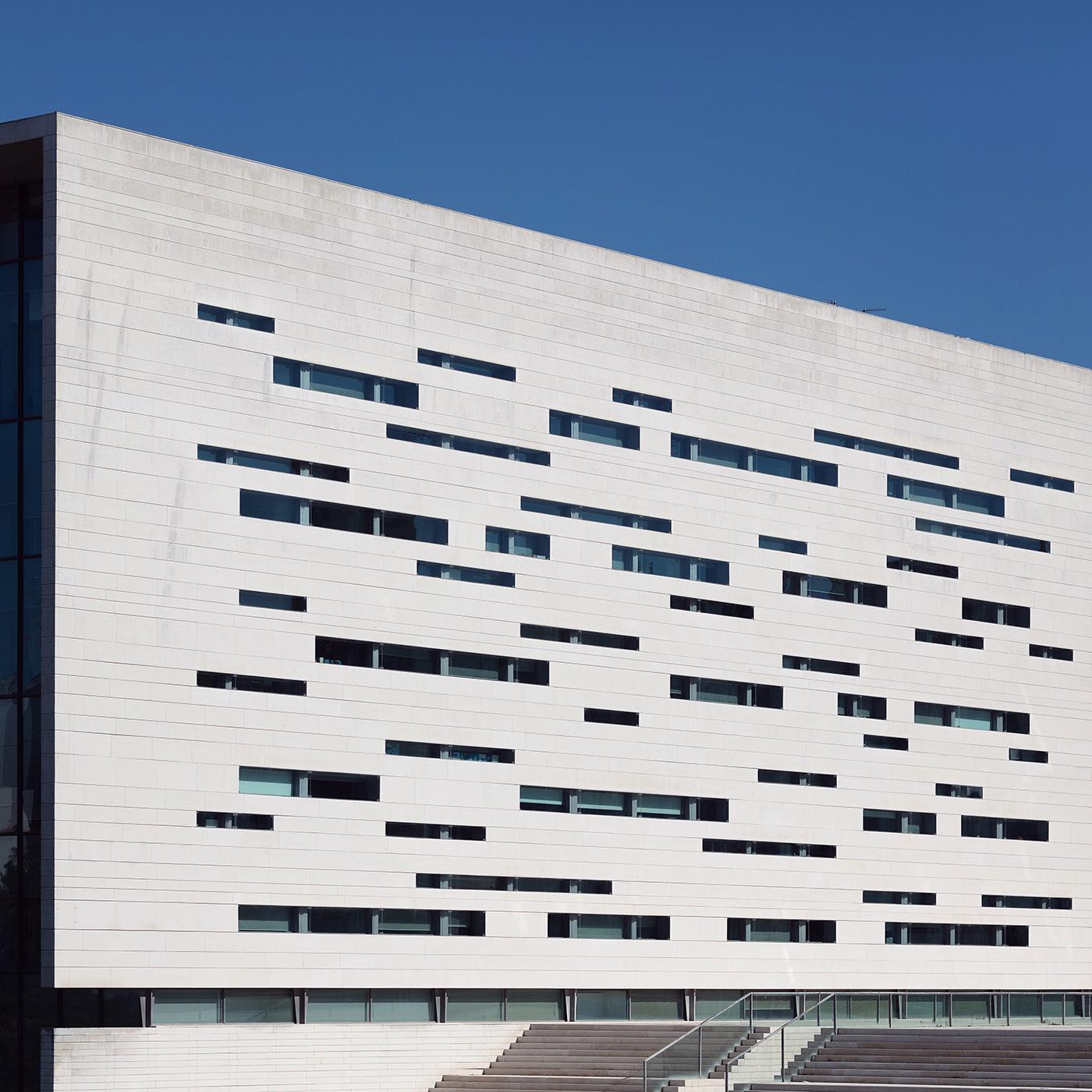Rectory building of Universidade Nova de Lisboa . Location: Lisbon, Portugal . Architect: Aires Mateus