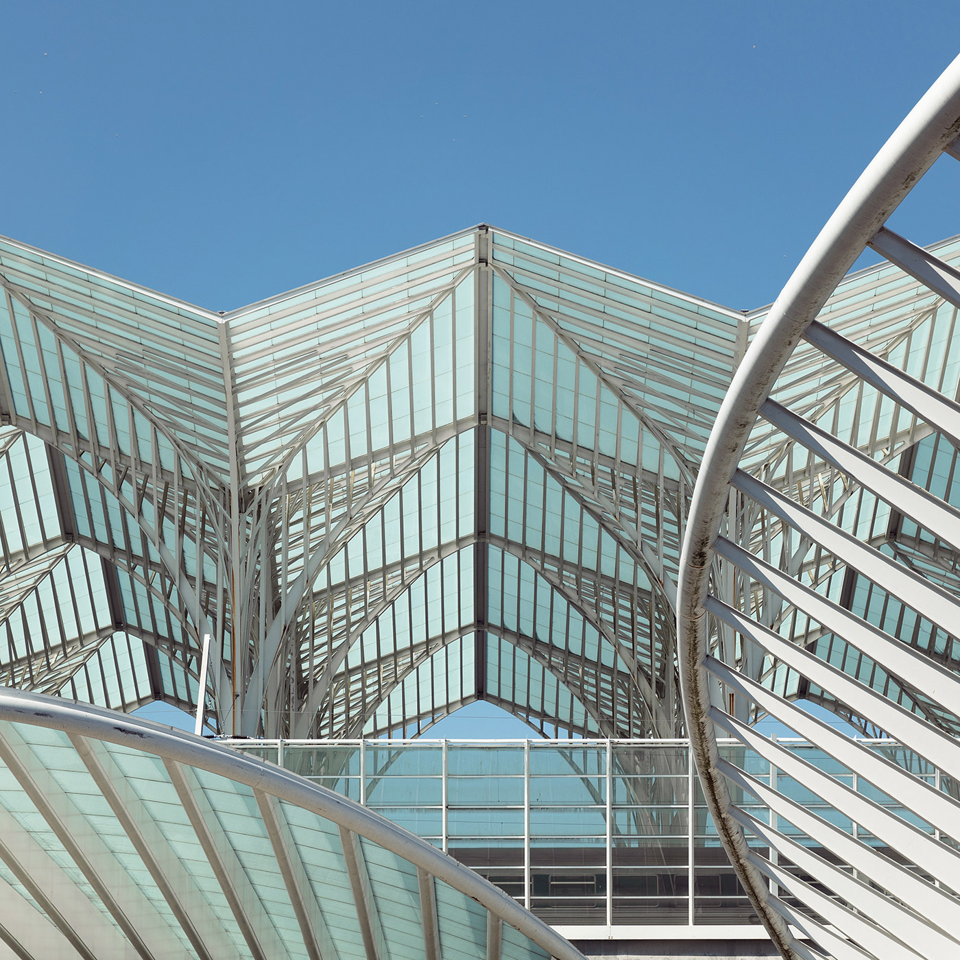 Gare do Oriente . Location: Lisbon, Portugal . Architect: Santiago Calatrava