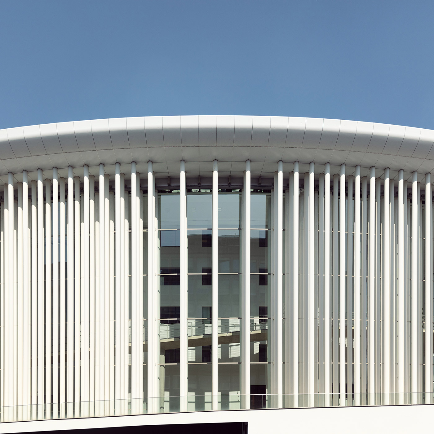 Grande-Duchesse Joséphine-Charlotte Concert Hall . Location: Luxembourg City, Luxembourg . Architect: Christian de Portzamparc