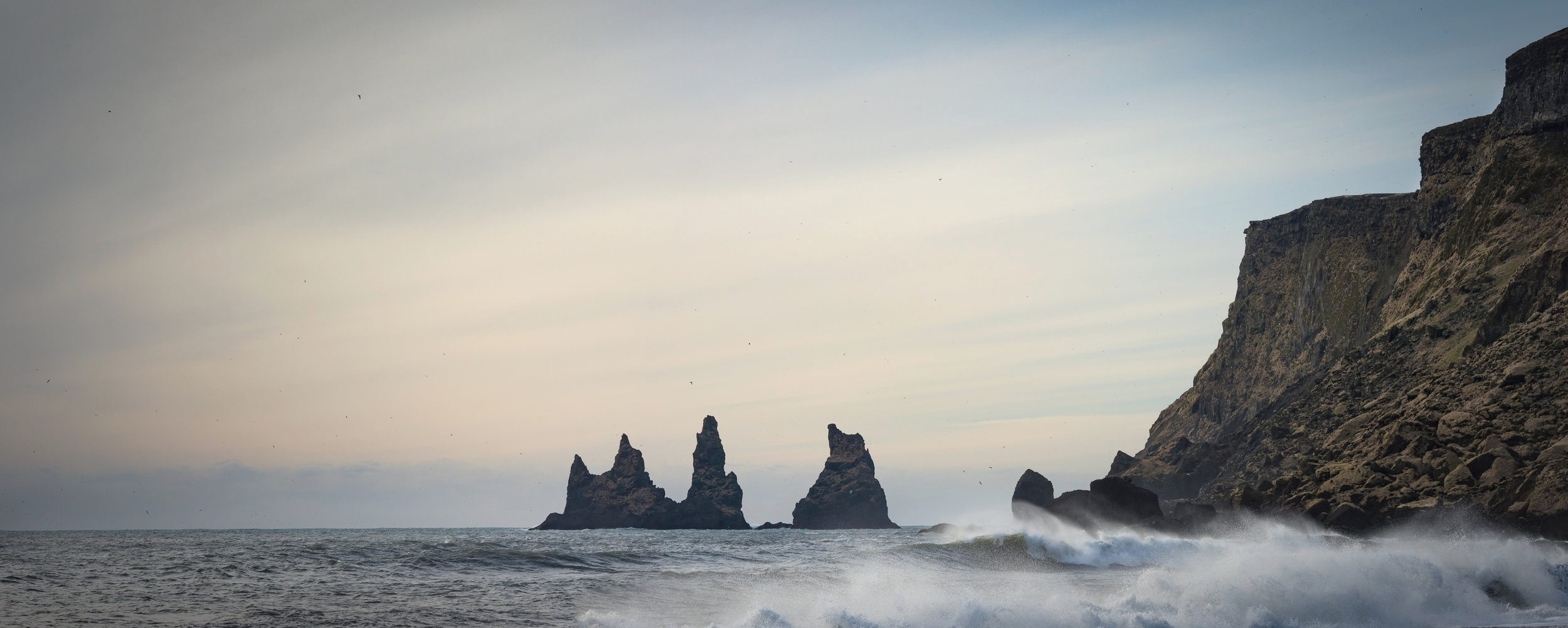 The Sea Stacks not the black beaches of Reykjanesta on our final day.