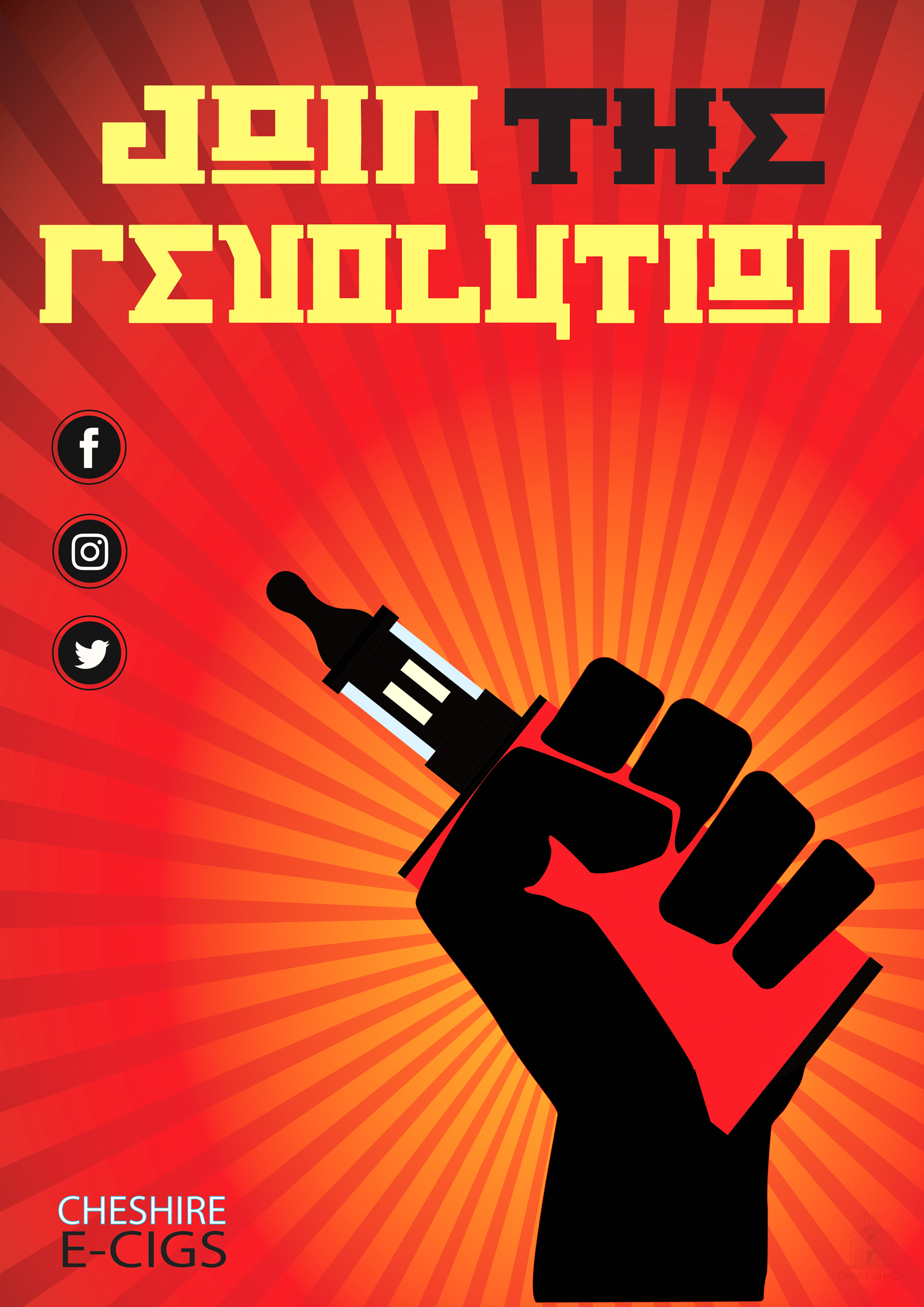 The final image of a revolutionary themed promotion for vaping.