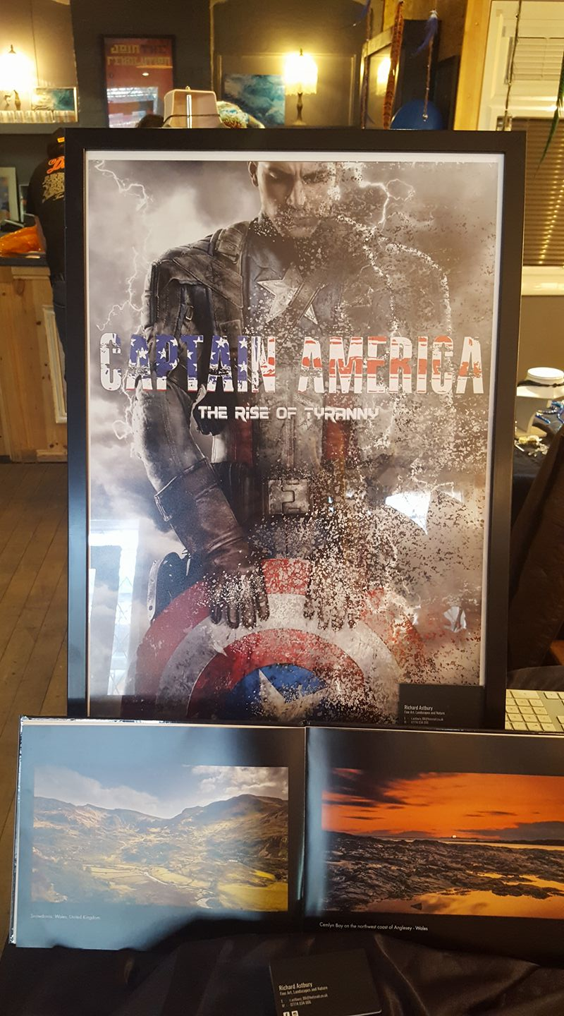 Jims excellent job on printing this Cpt. America print that was sold a few weeks later