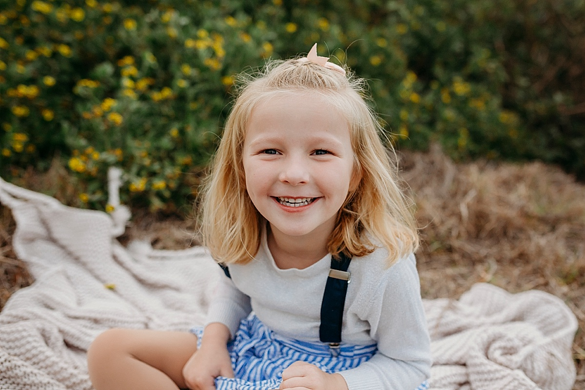 portrait of girl smiling at camera