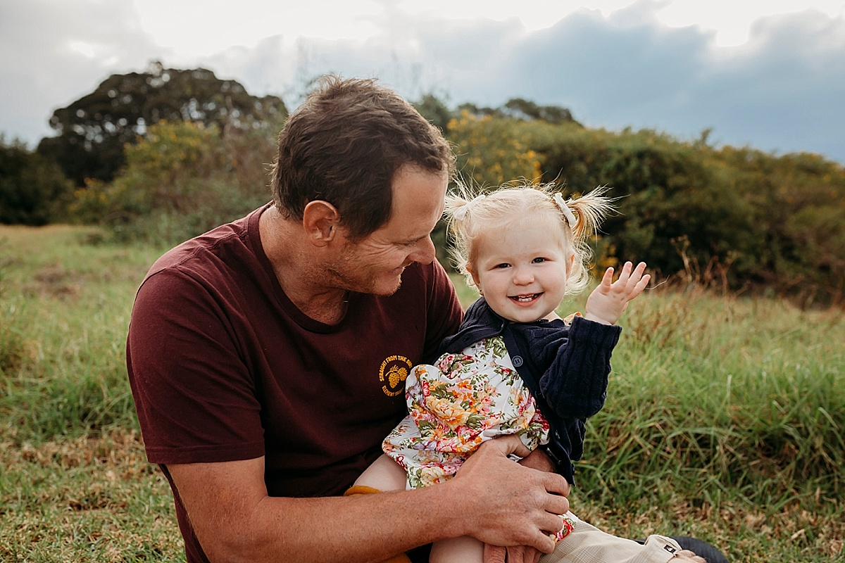 little girl and dad