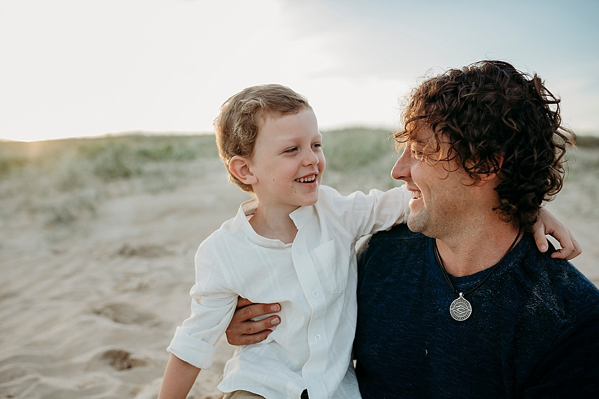 Father and son at family session in wollongong