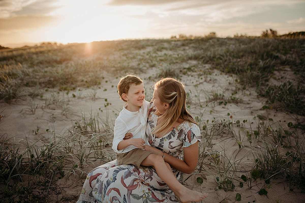 sunset family session wollongong