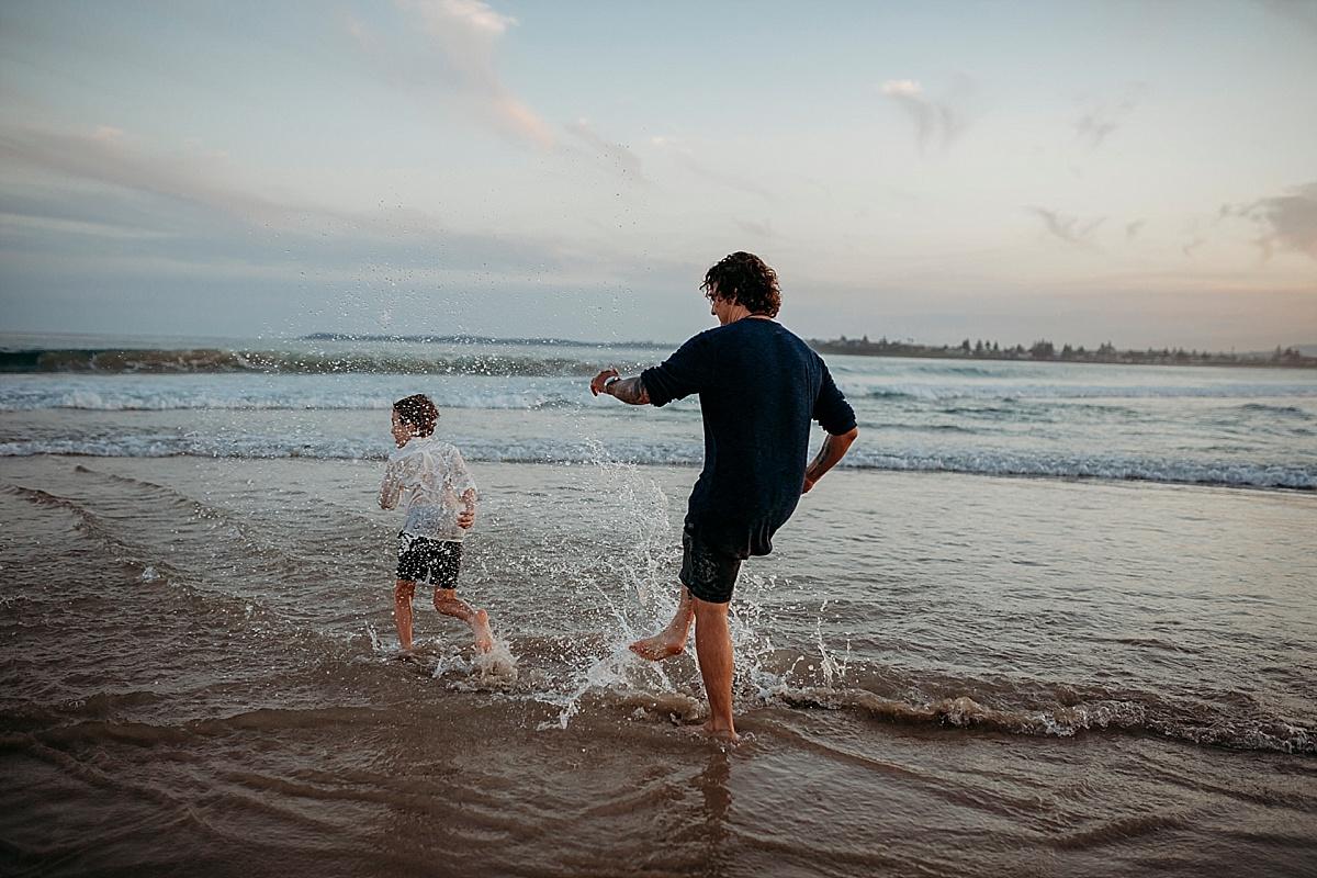 dad wetting son