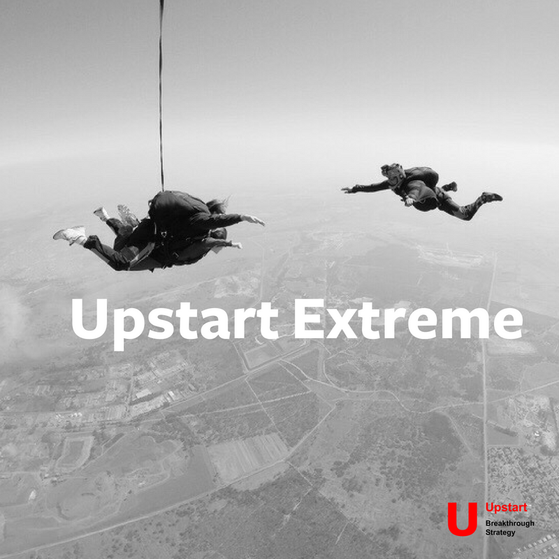Upstart Extreme - Our three-stage Breakthrough Strategy formula - in just a day and a half. Combining our approach and your expertise, we translate insight into an actionable strategic plan.