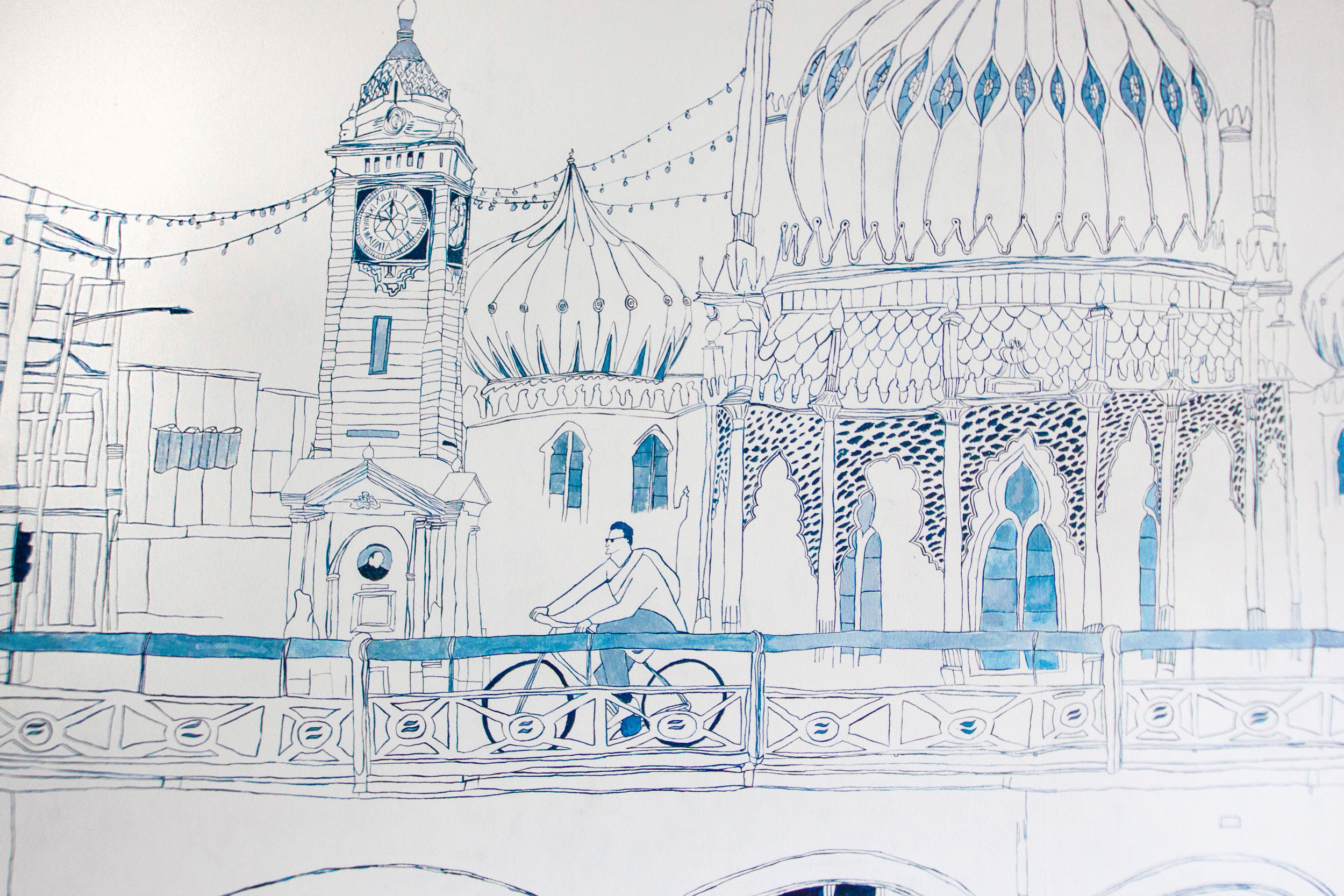 Close up - Clock Tower and Royal Pavilion
