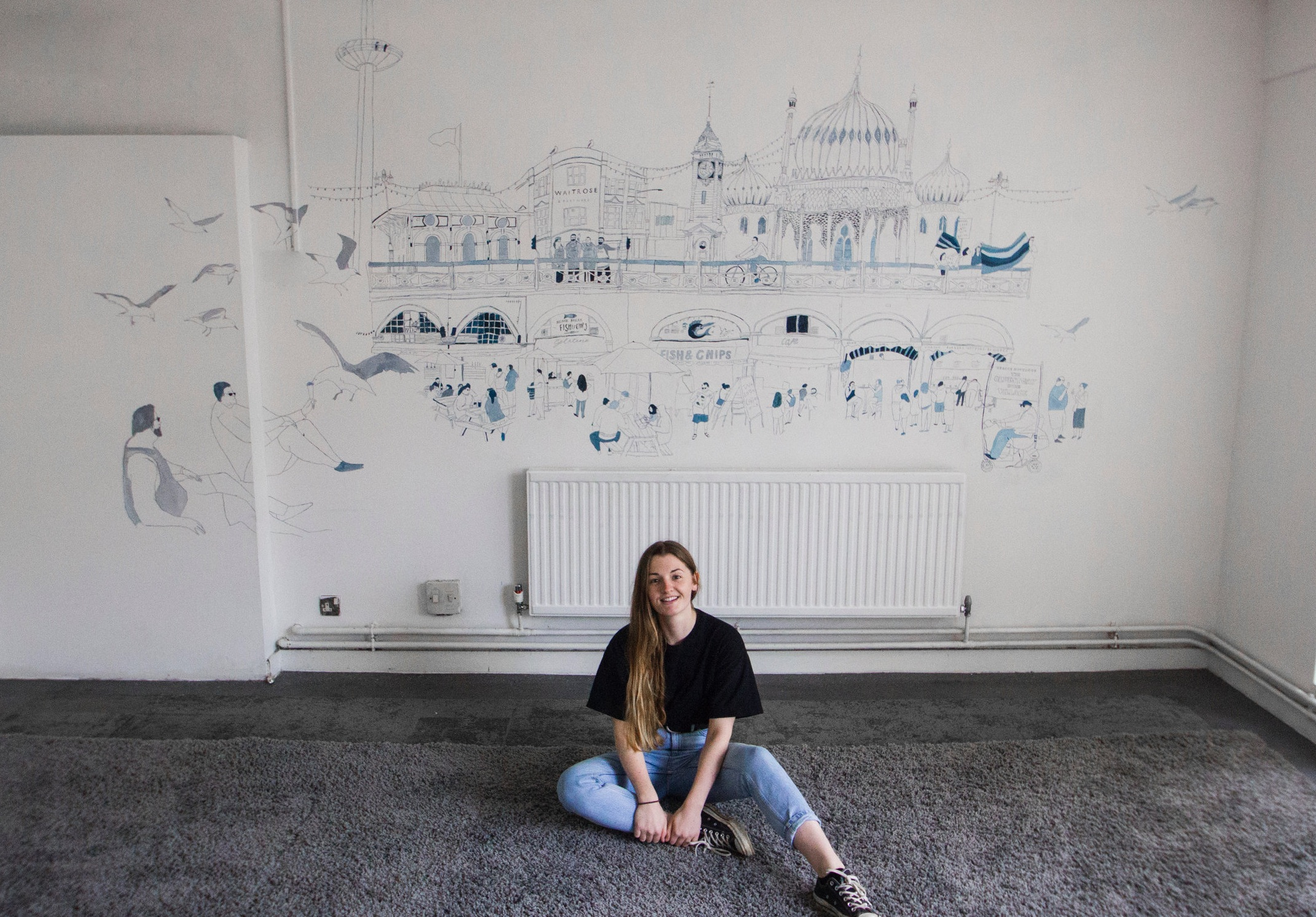 Waitrose & Partners mural