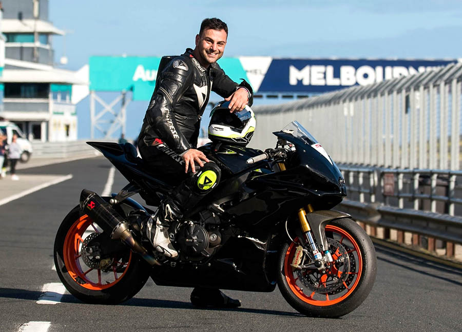 Alex in his happy place at Phillip Island Race Track. (Credit to Dean Bonthorne for the shot)