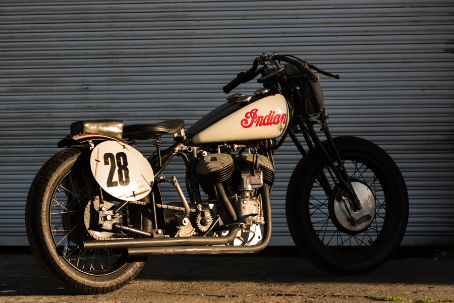 Classic Indian Motorcycle race bike