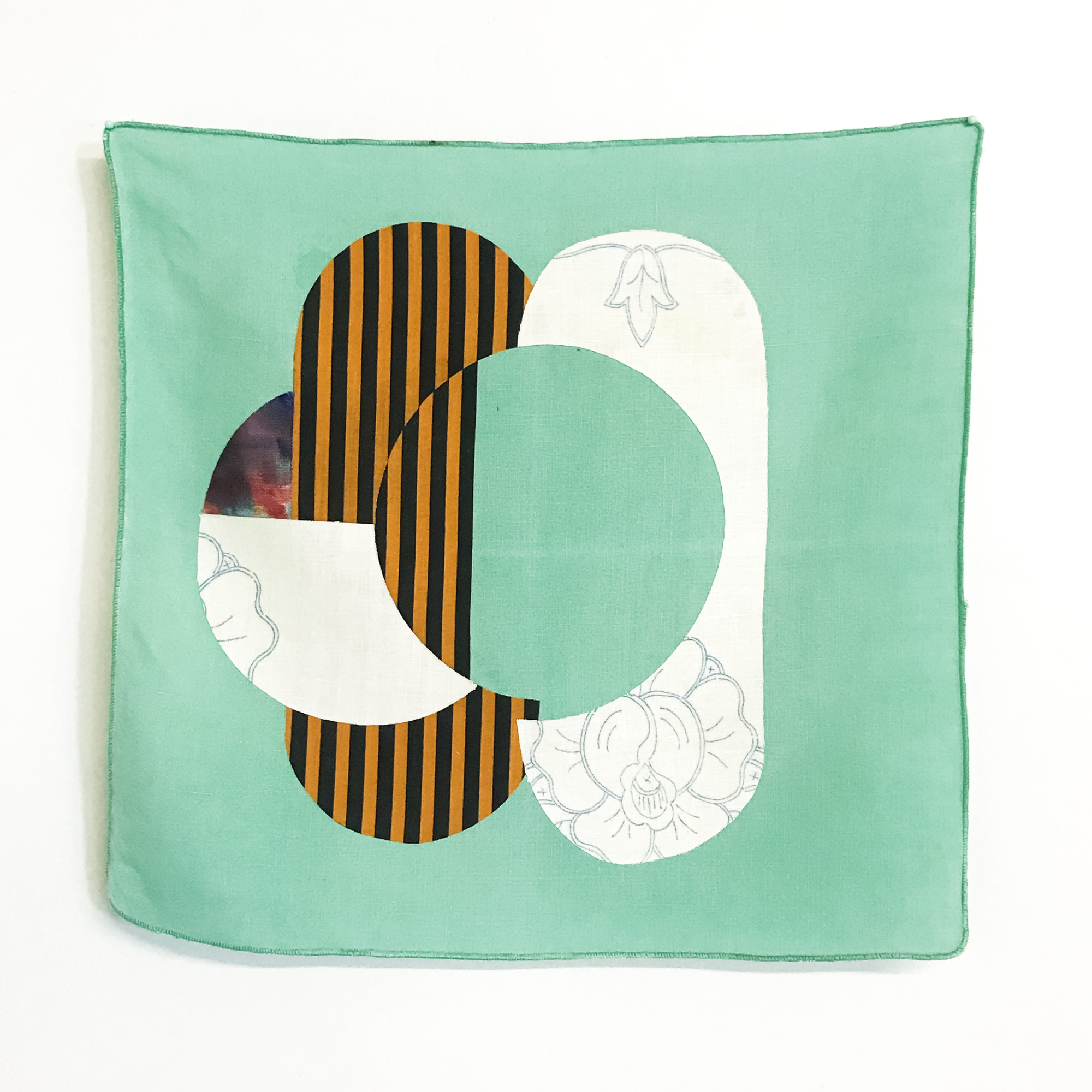 An Ideal Displacement -  applique, linen and cotton