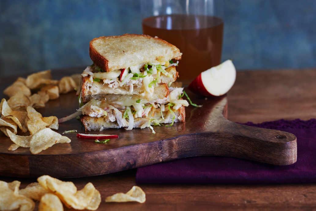 Apple Cheddar Chicken Melts - Image: Lauren Volo Recipe: Sheela Prakash