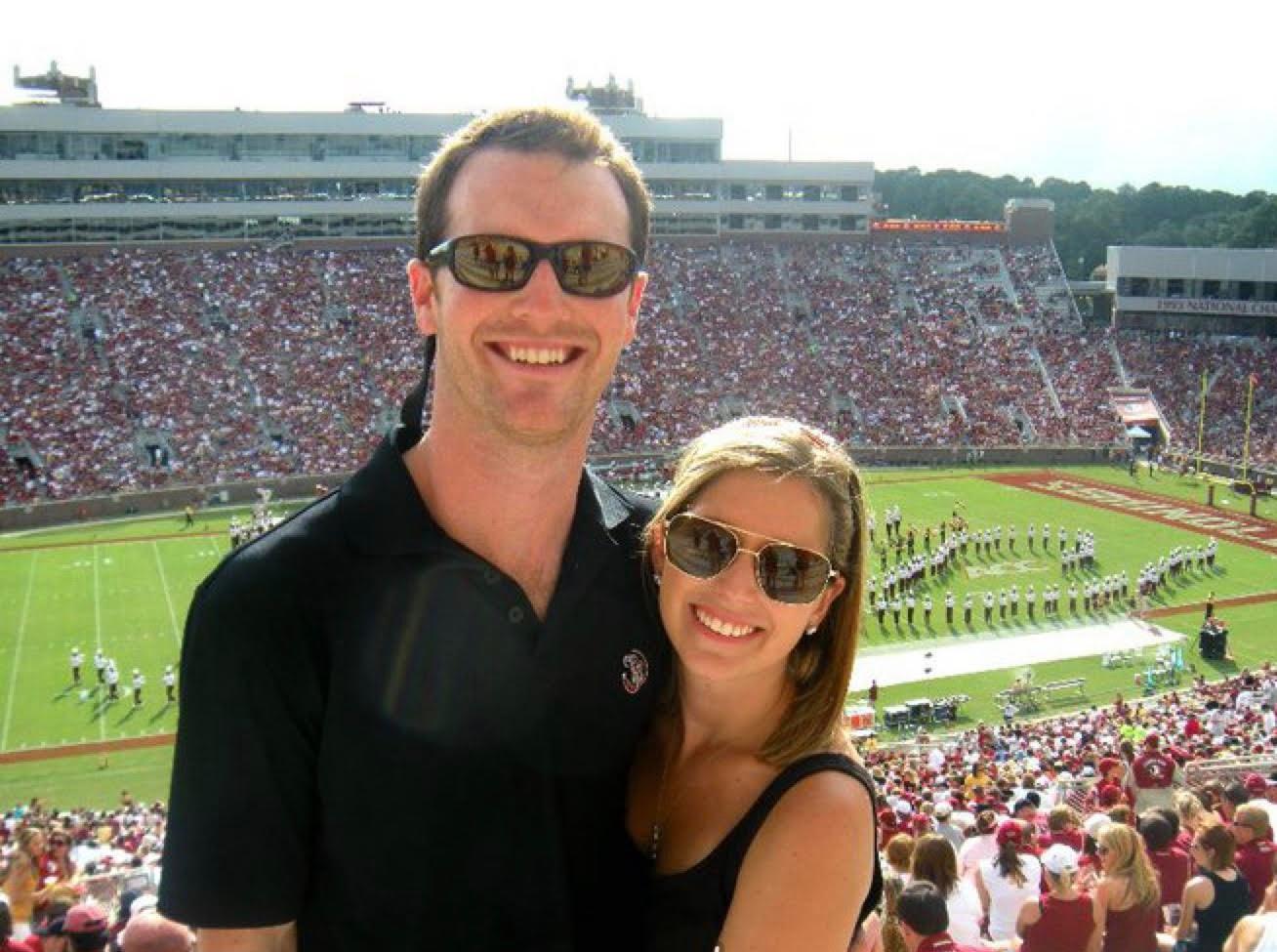 My husband and me at Florida State University!