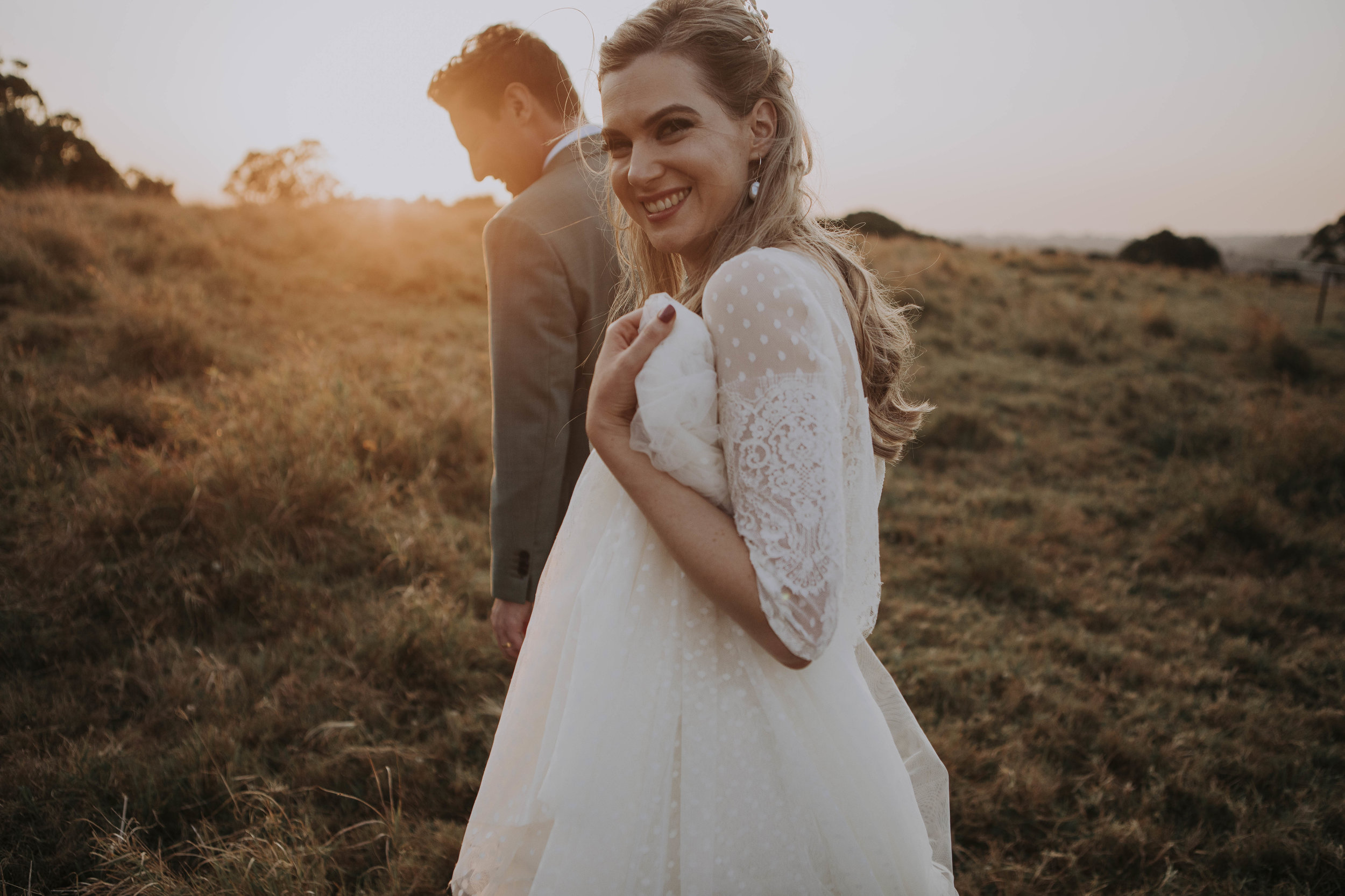 Angela and Sam - Sept 2017 - Angela was one of the sweetest brides from 2017. The gown that captured her heart was originally made in a dusty blush colour, Angela trusted me enough to create it in an ivory (site unseen) for her big day. I am glad to say we were both extremely happy with the final product.Images by Jessie DainesVenue The Earth HouseFlorals Elyssium Blooms
