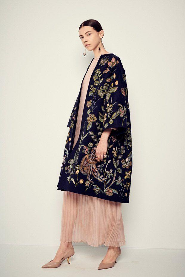 Long coats made from printed velvet and felt. -
