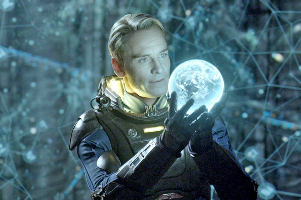 Fassbender in one of two android roles