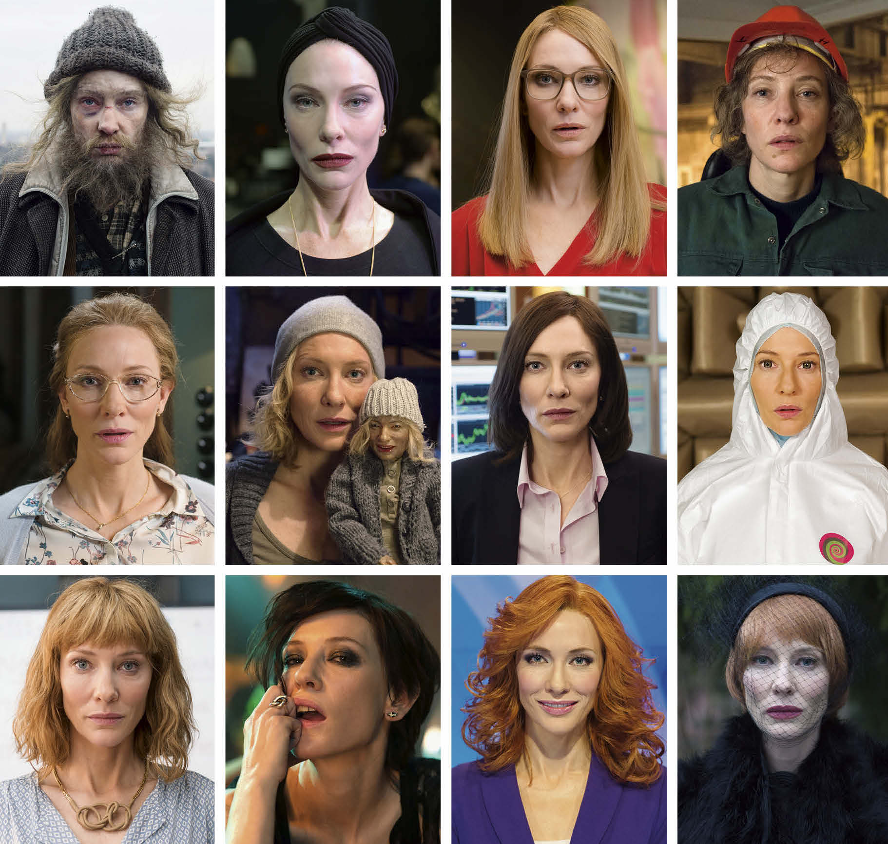 Nearly all of the many faces of Cate Blanchett in Manifesto