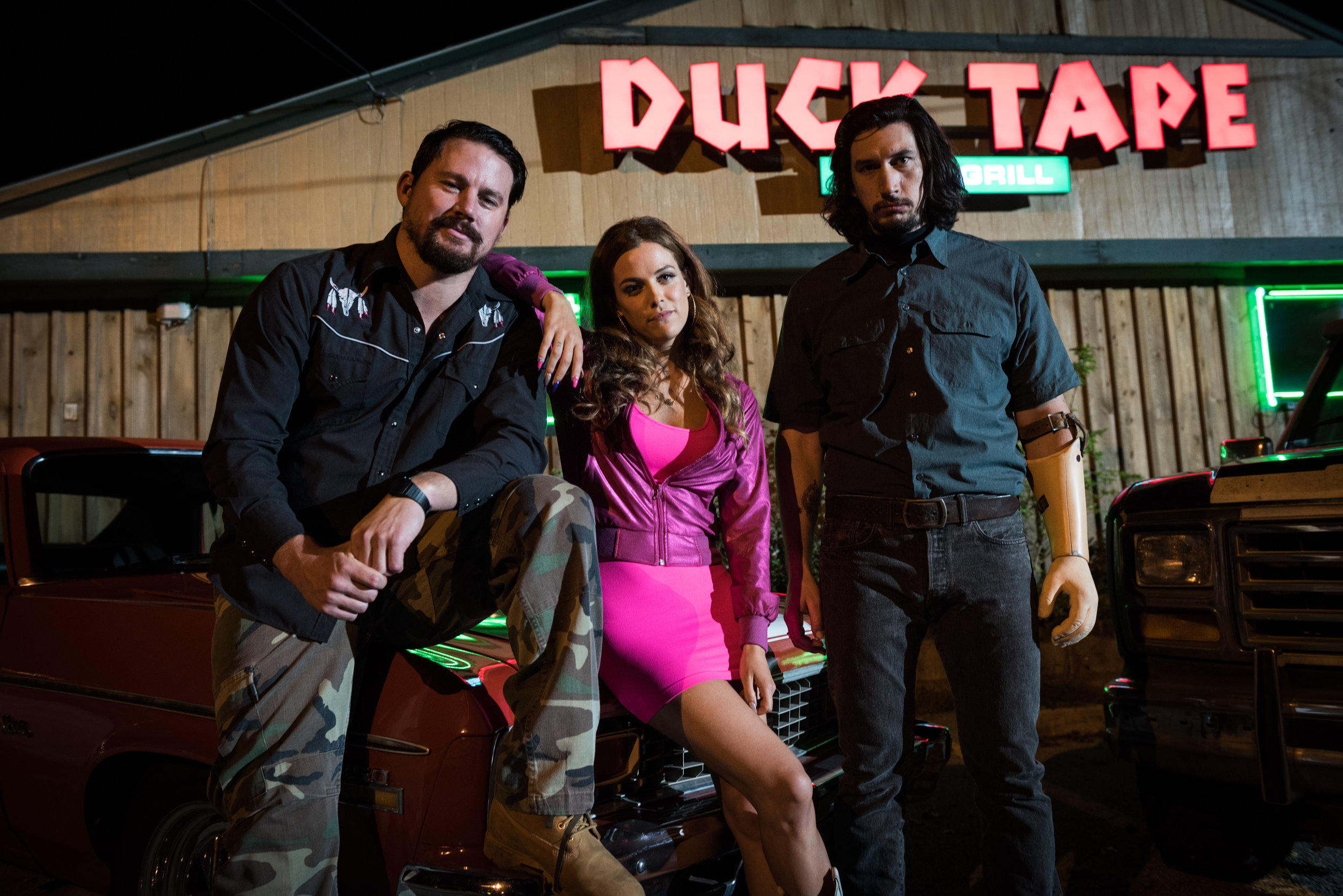 This ain't no Ocean's. Channing Tatum, Riley Keough and Adam Driver in Logan Lucky