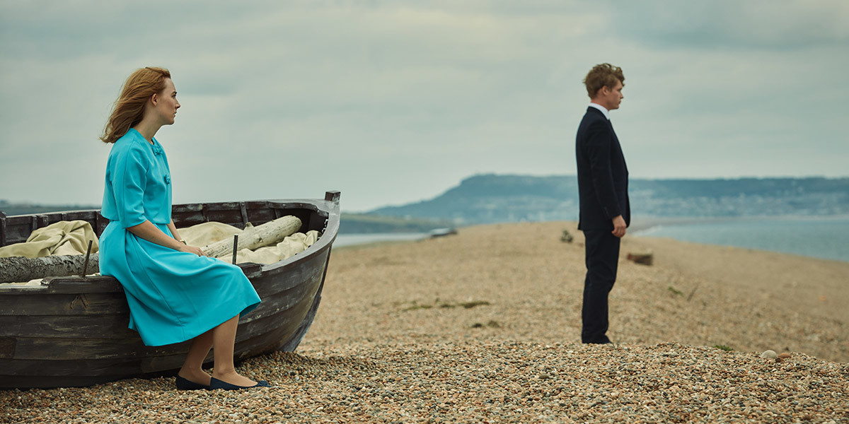 Saoirse Ronan and Billy Howie romance awkwardly in Ian McEwan's On Chesil Beach