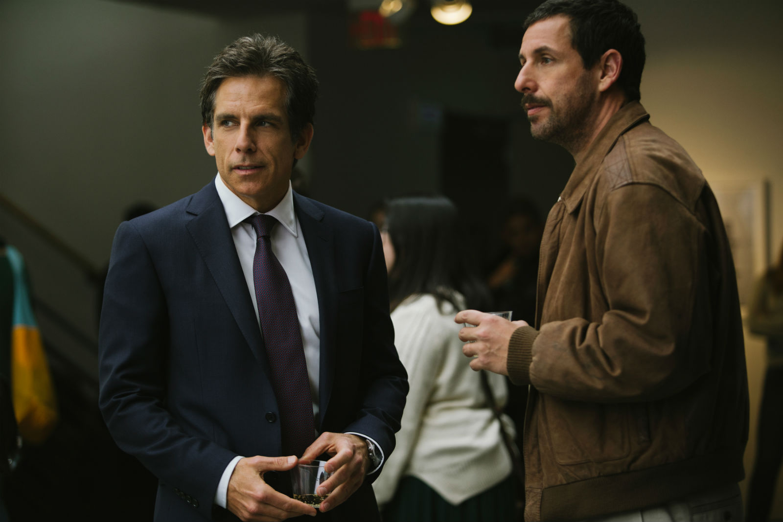 Ben Stiller and Adam Sandler, together again for the first time in The Meyerowitz Stories