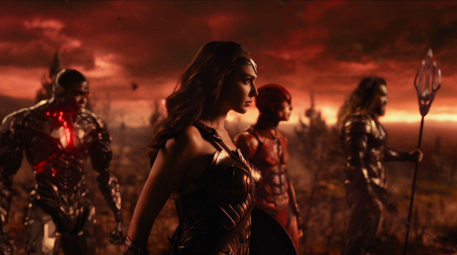 An excting scene from Justice League. Note who is missing...